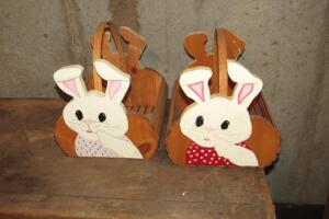 Handcrafted rabbit baskets