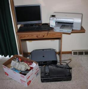 "HP PhotoSmart D5460 printer Canon MP160 copier/printer, Compaq 17"" monitor, keyboard and mouse"