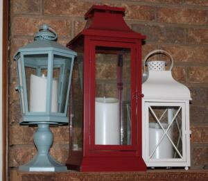 Decorative lanterns with battery operated candles