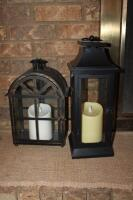 Decorative lanterns with battery operated candles - 2
