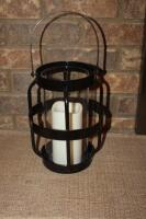 Decorative lanterns with battery operated candles - 3