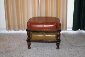 2 vintage stackable foot stools