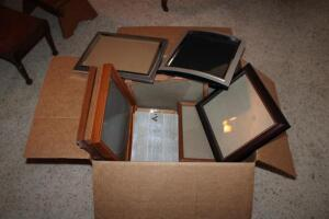 Large assortment of picture frames