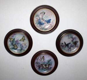 1989 W. L. George butterfly series plates