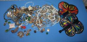 Costume jewelry, mostly vintage