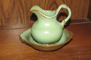 Frankoma pitcher and bowl