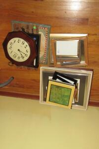 Framed and matted pictures, picture frames
