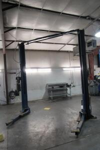 "Rotary Lift 2-post 9,000 lb., 140"" T x 90"" between posts, electric/hydraulic, single phase"