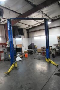 "Rotary Lift 2-post 10,000 lb., 140"" T x 90"" between posts, electric/hydraulic"