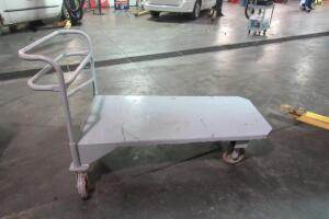 Steel flatbed roll around cart