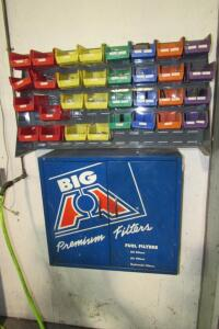 Big A fuel filter cabinet and wall mounted bins