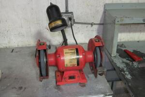 "Daytona 8"" bench grinder with lamp"