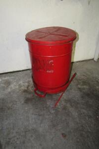 Fire proof rag container bucket