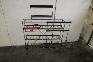 Metal battery stand and carrier