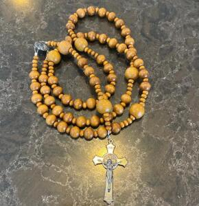 Brown Wooden Rosary