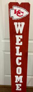 "KC Chiefs ""Welcome"" Sign"