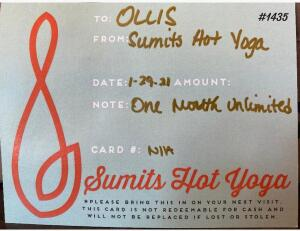 Sumit's Hot Yoga 1 Month Unlimited Yoga
