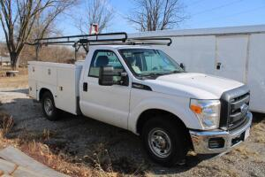 2011 Ford F-250 Pickup Truck with Knapheide 8' utility bed and ladder rack