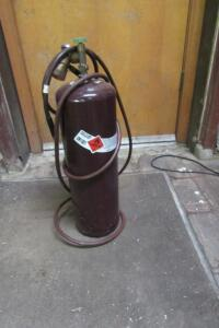 Acetylene tank, almost empty, 40 cubic ft.