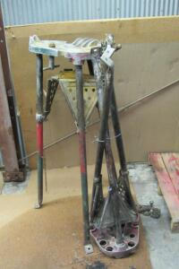 Pair of Ridgid tri-stand pipe clamping stands
