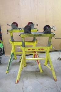 2 Sumner Bros. roll sawhorse like stands