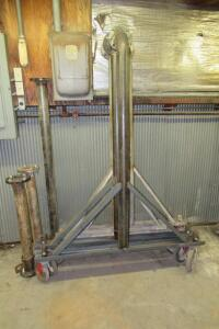 Gantry A-frame with angle iron & pipe construction