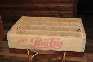 Pepsi-Cola wooden crate