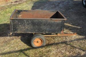 Precision Products Big Hog dump cart, shows rust in box