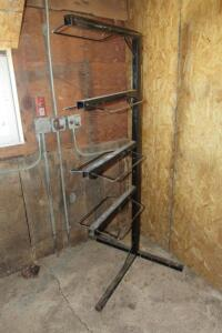 Metal freestanding saddle rack