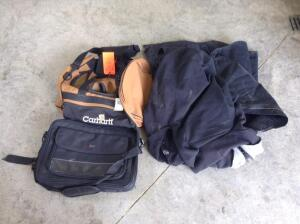 Carhart insulated vest and tote bag