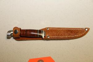 Leather handled knife