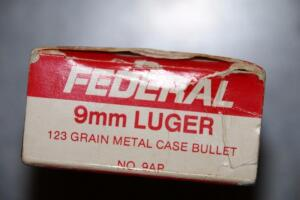Full box of 9 mm Luger