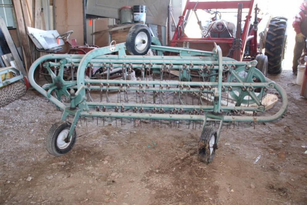 Ferguson 3-pt  6-bar hay rake, Model D-E0-20, PTO driven, SN: 12385