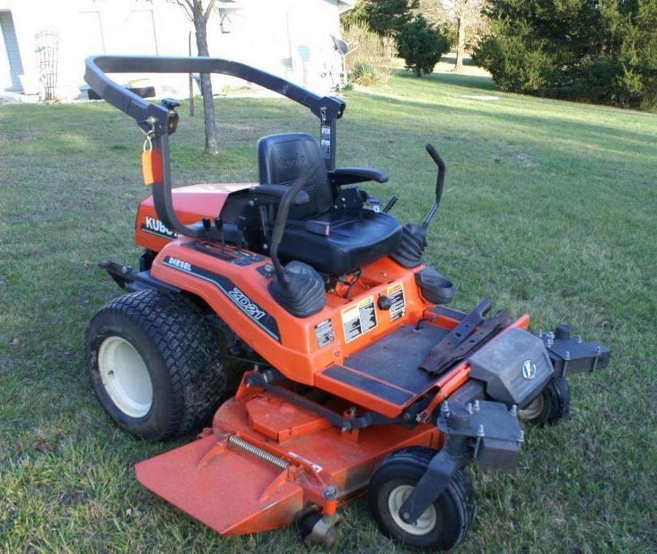 Kubota zero turn mower, Model ZD-21 - Current price: $5300