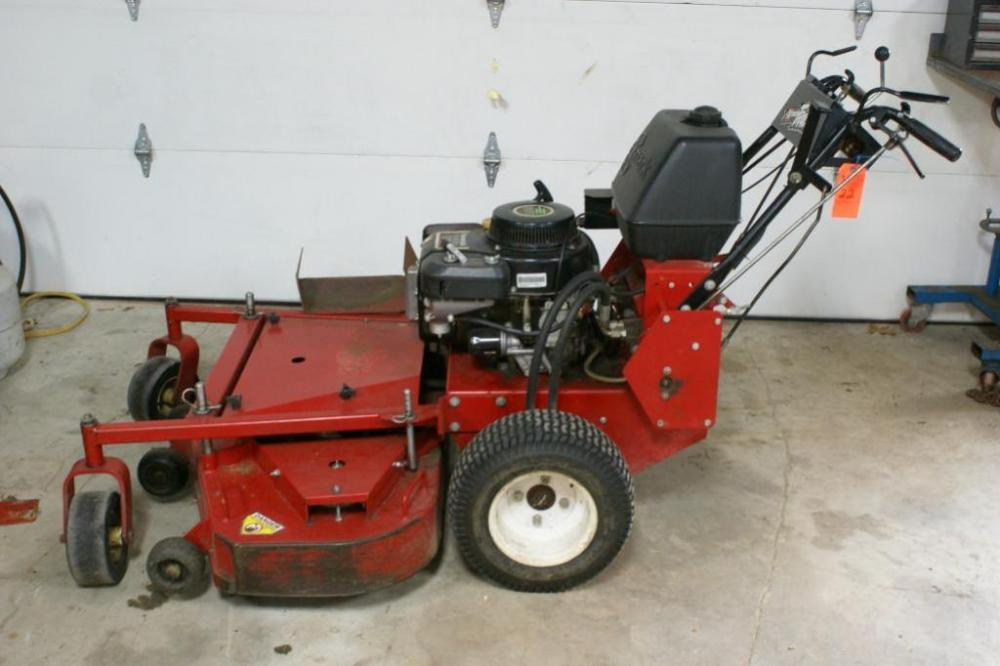 Exmark Turf Tracer walk behind mower, Kawasaki FC420V gas engine, 48