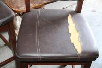 4 upholstered barstools, most with damage - 3