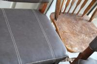 4 upholstered barstools, most with damage - 4