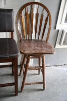 4 upholstered barstools, most with damage - 5