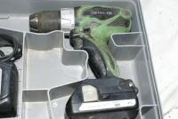 Hitachi 18V cordless drill, light, charger and 2 batteries - 2