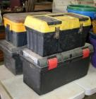 4 used tool boxes, various sizes, some with damage