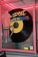 Framed Sweet Sixteen hand painted sign