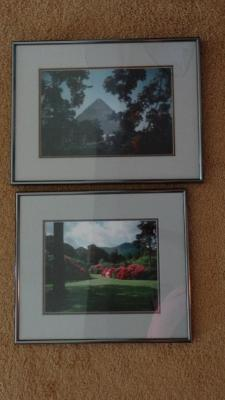 Pair of framed and matted photographs