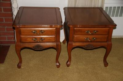 Pair of single drawer end tables