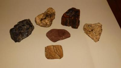 6 pieces of petrified wood?