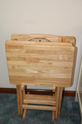 Wooden TV trays with stand