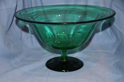 Green pedestal fruit bowl
