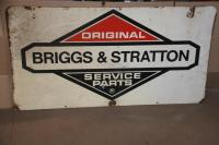 Briggs & Stratton metal double sided sign